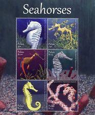 Palau 2017 MNH Seahorses Pygmy Seahorse Leafy Seadragon 6v M/S Marine Stamps