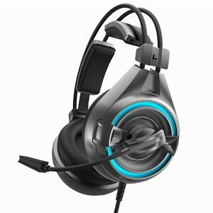 SENICC A6 USB LED Virtual 7.1 Sound Gaming Headset Headphones For Computer