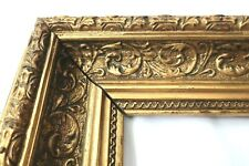 """Antique Fits 8 X10"""" Gold Picture Frame Wood Gesso Ornate Fine Art Country"""