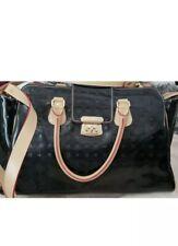 AUTHENTIC Arcadia Black Patent Leather Handbag/Satchel Purse MADE IN ITALY!!!