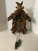 The Time Company Quartz Electric Cuckoo Clock Musical W/ Turning Dancers See Des