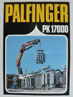 PALFINGER PK 17000 1980s dealer brochure - English