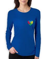 Autism Awareness Month Love Puzzle Piece Women Long Sleeve T-Shirt Support