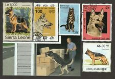GERMAN SHEPHERD ** Int'l Dog Postage Stamp Art Collection **Great Gift Idea**