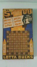 "Vintage ""Lotta Bucks"" Punch Board Game"