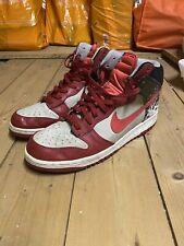Nike Dunk High Premium Splatter – Neutral Grey / Hot Red – Varsity Red UK11