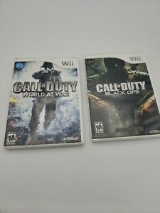 Wii Game Lot: Call Of Duty World At War + Black Ops! CIB / Tested-