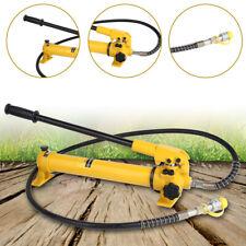 "New listing 350Cc Manual Hand Hydraulic Pump 3/8″ Npt 4"" Long Hose & Coupler 10000 Psi"