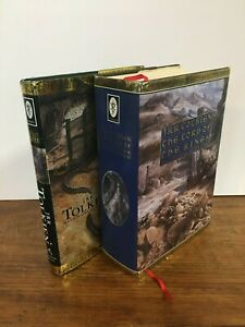 Lot 2 THE HOBBIT & LORD OF THE RINGS Alan Lee Illustrated JRR TOLKIEN 1991 HC