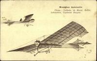 LATECOERE aircraft motif monoplane strutted l/'A\u00e9ropostale pin badge enamelled gray 1990s