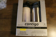 New- Contigo Autoseal 20 oz Water Bottle, Couture Collection Marble/Metal 2 Pack