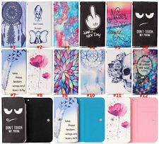 NEW Cartoon Flower Leather slot wallet pouch case skin cover 87-50#5