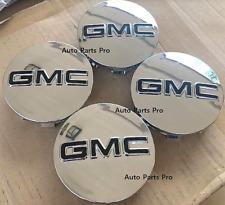 "GMC 83mm CHROME CENTER CAPS 2014-2019 Sierra Limited & Yukon + XL 20"" 22"" WHEELS"