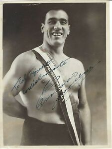 """Primo Carnera Signed 7-1/4 x 9-3/4"""" Vintage Photo PSA/DNA Authenticated"""