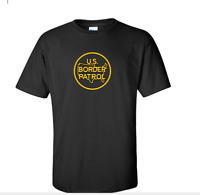 US Border Patrol T-Shirt immigration cotton Shirt Black White Yellow S-5XL