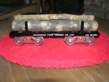 McCoy Standard Gauge # 291 Shawnigan Lake Lumber Log Car with Load