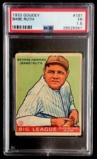 1933 Goudey #181 BABE RUTH PSA 1.5 *CENTERED & COLORFUL*
