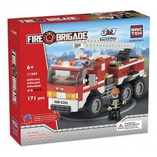 Fire Engine BricTek Building Block Construction Toy Fire Brigade Brick 3 in 1