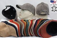 100% REAL GENUINE LAMBSKIN SUEDE LEATHER Baseball Cap Hat Sport Visor 36 COLORS