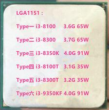 Intel i3-8100 i3-8300 i3-8350K i3-8100T i3-8300T i3-9350KF  LGA 1151 CPU