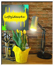 Modern Industrial Repurposed Yellow Spray Paint Can Adjustable Table Lamp Light