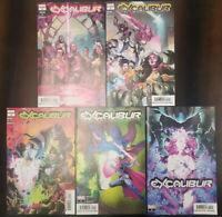 Excalibur #1 #2 #3 #4 #5 First Print Set X-Men DX Marvel 2019