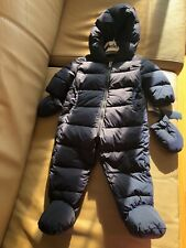 ADD DOWN FIELD NAVY BLUE SNOW SUIT HOOD BOOTS GLOVES 6 MONTHS BNWT $550