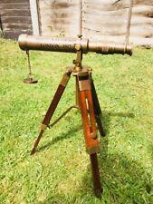 Vintage Telescope Reproduction Wooden Antique Spyglass Binocular Tripod