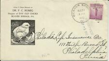 Day Old Chicks, Beaver Springs, Pa 1942 Wwii Ad Postal History Cover