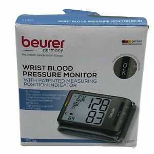 Beurer BC81 Wrist Blood Pressure Monitor Large Cuff Automatic & Digital EUC