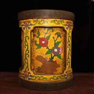 Chinese antique Cloisonne  pen holder exquisite ornament handicraft