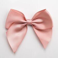 10cm Large Satin Bows - Self Adhesive Pre Tied 38mm Ribbon Bow Wedding Craft