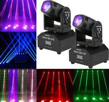 2Pcs Moving Head 60W RGBW Stage Lighting Beam Spotlight DMX512 11/13CH Party DJ