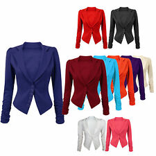Unbranded Blazer Hip Length Button Coats & Jackets for Women