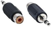 ADATTATORE PRESA RCA F a SPINA JACK 3,5 M audio mono connettore cavo prolunga pc