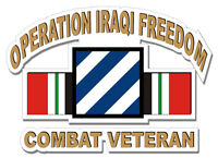 "3rd Infantry Division Iraq Veteran 5.5"" Sticker / Decal"