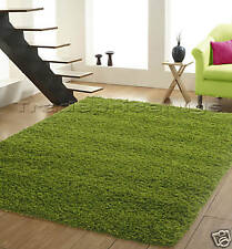 X EXTRA LARGE LIME GREEN THICK PLAIN SHAGGY RUG 200x290