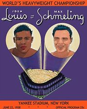 JOE LOUIS vs MAX SCHMELING 8X10 PHOTO BOXING PROGRAM PICTURE HEAVYWEIGHT CHAMP