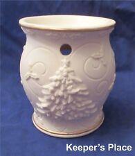 Yankee Candle PORCELAIN TREE Christmas Tart Burner Porcelain Cream Color