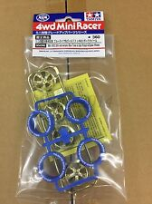 Tamiya 95098 1/32 Mini 4WD 35th Anniversary Tire/Wheel - White Tires/Gold Plate