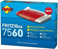 AVM FRITZ!Box 7560 INTERNATIONALE EDITION  WLAN AC + N Router VDSL ADSL ADSL2+