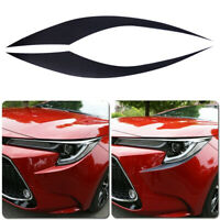 Pair Headlight Eyebrow Eyelid Cover Trim Sticker Fit for Toyota Corolla 2020