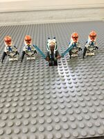 Lot Of Five Ashoka With Clones Minifigures FREE US Shipping