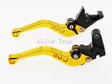 Short Clutch Brake Levers For YAMAHA FZ6R 2009-2015 FZ1 FAZER 2006-2013 07 Gold