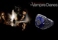 The Vampire Diaries Jeremy Gilbert, Lapis Lazuli, Antique Silver, Daylight Ring