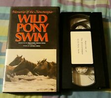 Only 100 Made! Rare 1988 Vhs Oop Memories Of The Chincoteague Wild Pony Swim