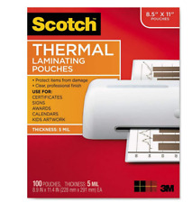 Scotch TP5854100 9 x 11.5 inch Thermal Laminating Pouches - 100 Pack