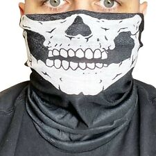Skelett Mundschutz Halstuch Gesichtsmaske Mund-Nase Halloweenmaske Horrormaske