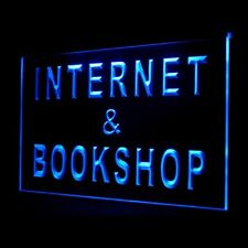 130023 Internet & Book Shop Coffee Reading Display LED Light Sign