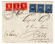 1926 Paraguay via Argentina to Switzerland Cover / Postal Agency.